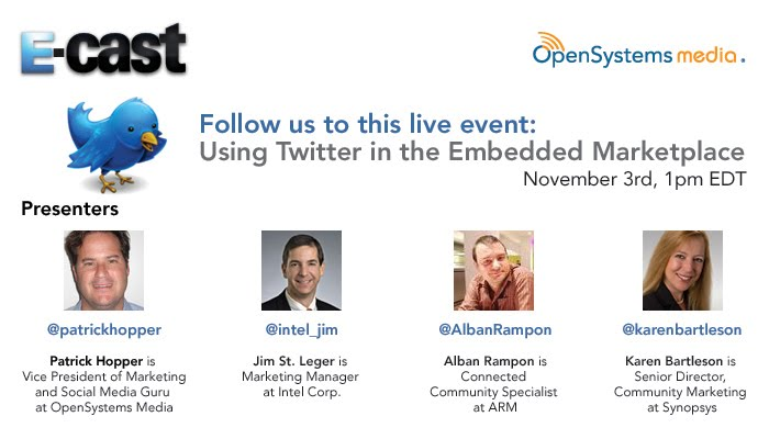 Twitter in Embedded Market Presenters