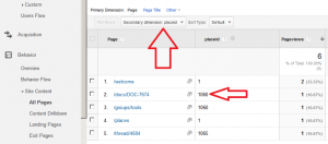 Google Analytics PlaceID in Site Content